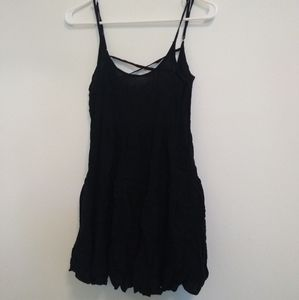 Open-back Black Tank/Dress